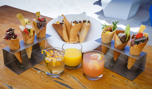 Grace Bay Club's pop-up restaurant Kone serves savory and sweet bites on Grace Bay Beach in Providenciales.