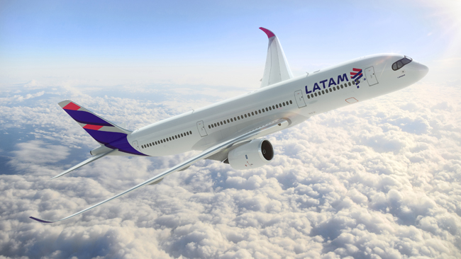 The new aircraft for LATAM Airlines.