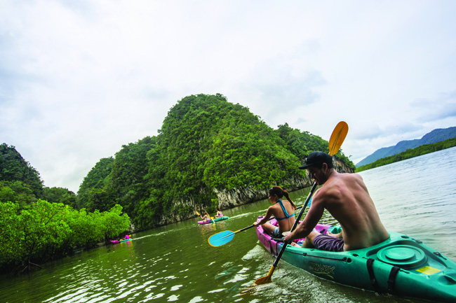 G Adventures offers a Hike, Bike and Kayak Thailand trip that's ideal for active honeymooners.