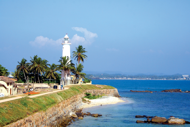 Intrepid Travels' Sri-lanka port-town lighthouse.