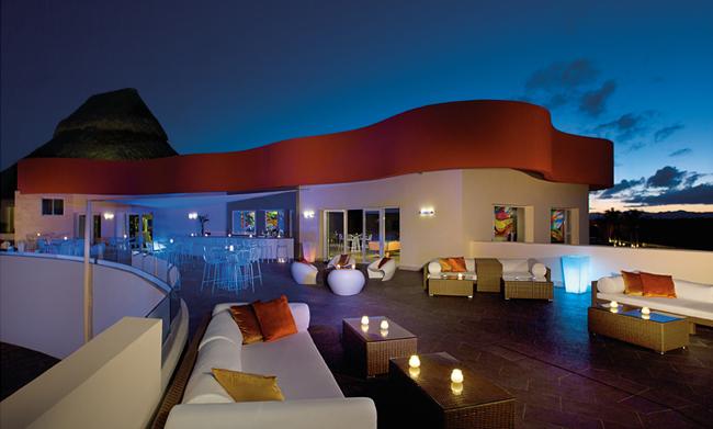 The After Dark Sports Bar & Nightclub terrace atBreathless Punta Cana.
