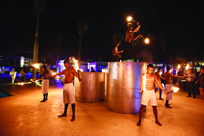Party scene at CHIC Punta Cana.