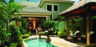 Accommodations are made for romance at Sandals Negril in Jamaica.
