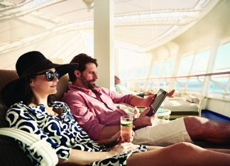 Couples can relax at The Sanctuary on board Princess Cruises ships.
