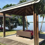 Cabanas with views of the lake were spread out throughout the property.
