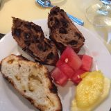 Club Med's signature chocolate bread and fruits. Don't go home without devouring some of this bread.