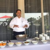 Chef Ralph Cipollo giving the group a cooking class on how to make tofu ceviche.