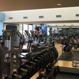 The fitness center at Club Med Sandpiper Bay.