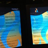 The menu at the Riverside Grille is illuminated. How's that for innovation?