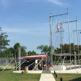 Trapeze classes are offered daily to guests.