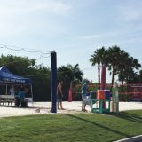 The volleyball courts at Club Med Sandpiper Bay.
