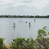 Guests enjoying the watersports.