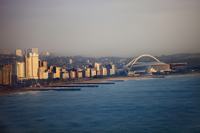 The Durban skyline.