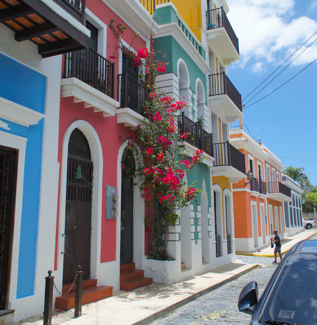 Houses in Old San Juan, Puerto Rico. (Photo credit: Ed Wetschler)