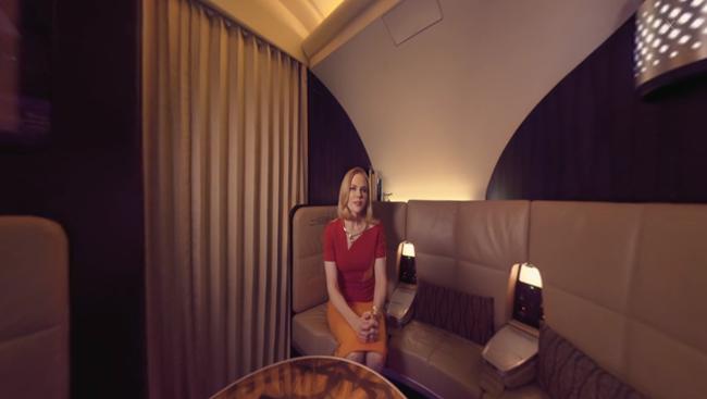 A still fromEtihad Airwaysvirtual reality film starring Nicole Kidman.