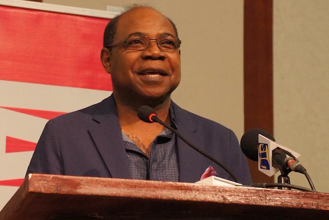 Jamaican Minister of Tourism Edmund Bartlett. (Photo credit:Ed Wetschler)