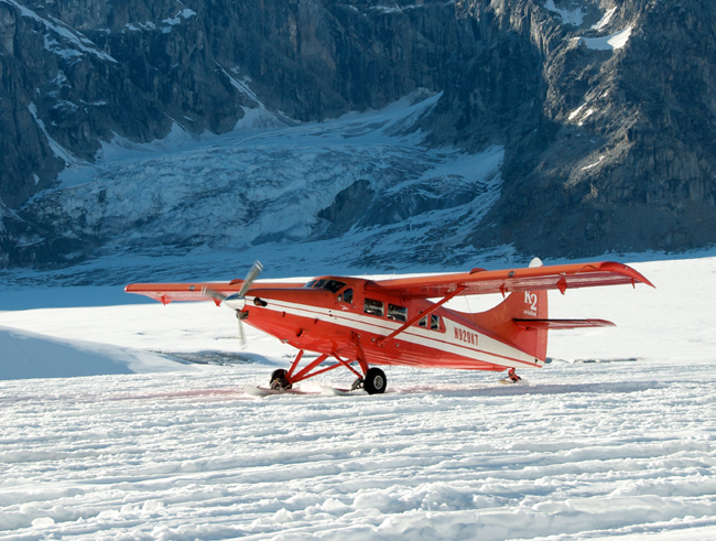 K2 Aviation is offering a new new glacier dog sledding tour in Alaska that includes flightseeing in a sea plane overmountains, braided rivers and Lake George.