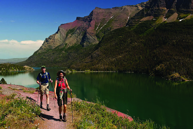 Country Walkers offers a tour of Glacier National Park in Montana that's ideal for nature-loving couples.