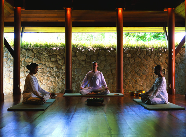 Meditation at Amanpuri in Thailand. (Photo credit: Aman)
