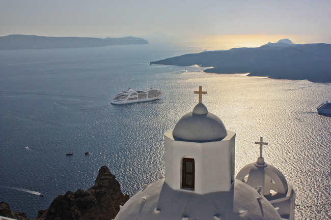 The Silver Spirit in the Greek Isles.