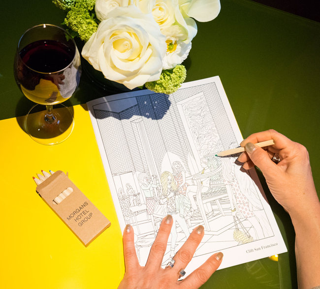 Morgans Hotel Group is releasing a limited-edition mindful coloring book for adults as part if the hotel group's wellness programming.