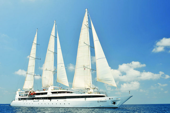 Zegrahm Expeditions' 56-passenger sailing ship Le Ponant.