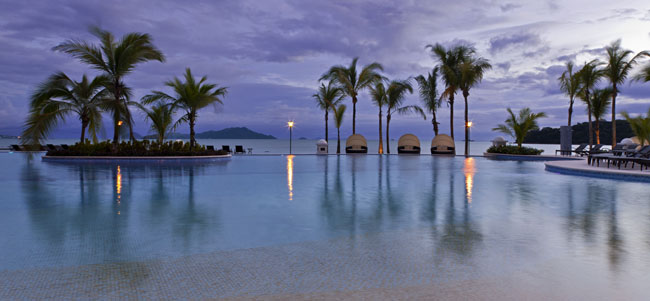 An oceanfront infinity pool at the Westin Playa Bonita in Panama City, Panama.