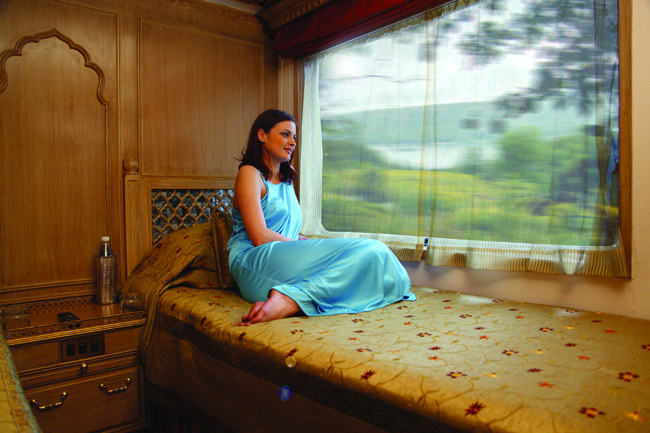 On board the Maharajas' Express.