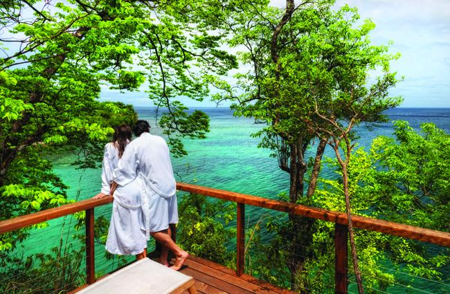 Intimate Secret Bay in Dominica.