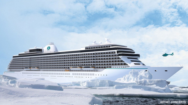 Crystal Cruises' Exclusive Class ship.