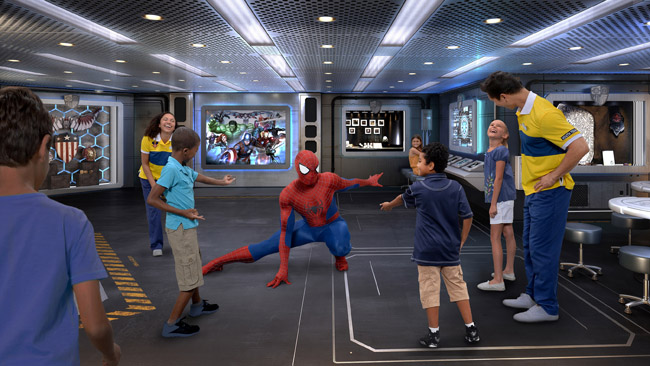 The Marvel Super Hero Academy aboard the Disney Wonder (Photo Credit: Illustration, Disney)