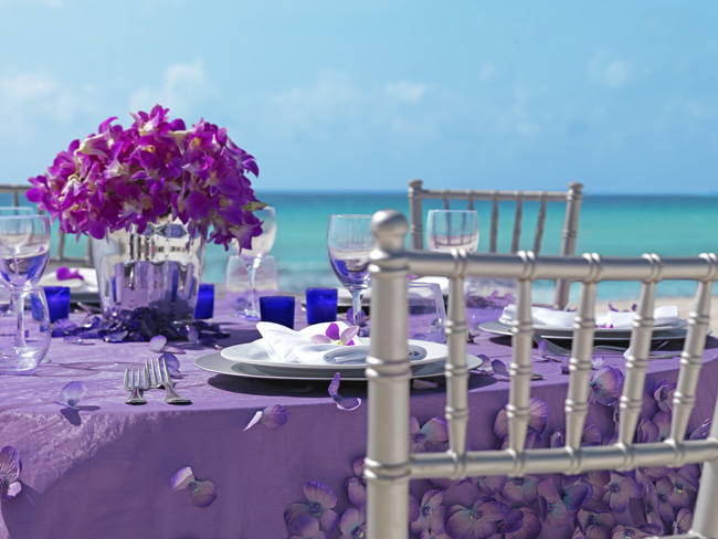 Wedding setup at Moon Palace Jamaica Grande.