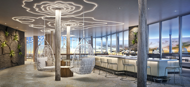 Rendering of the new Lanai Rooftop bar. (Photo courtesy of Marco Marriott Beach Resort)