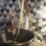 Guests can see how mozzarella is made.