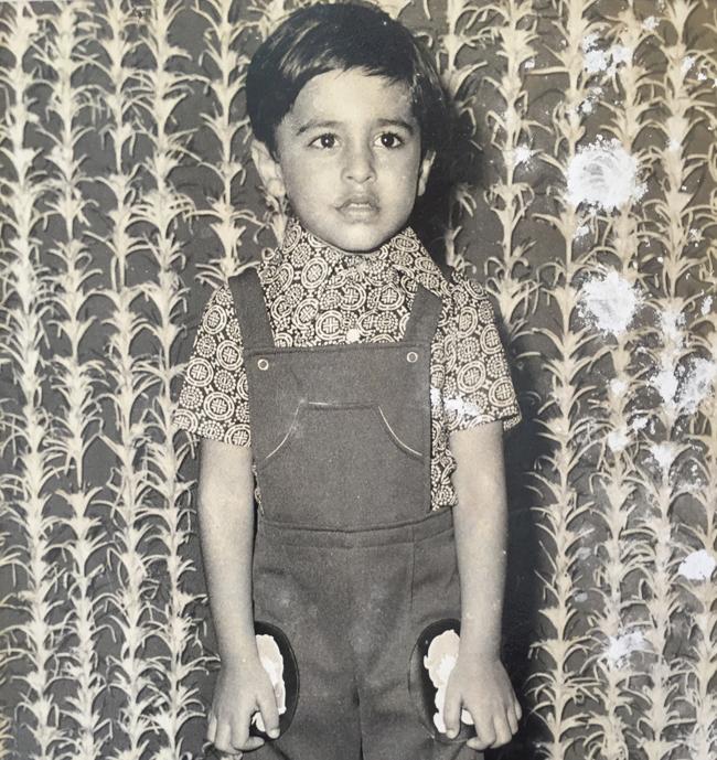 Nikheel as a child.