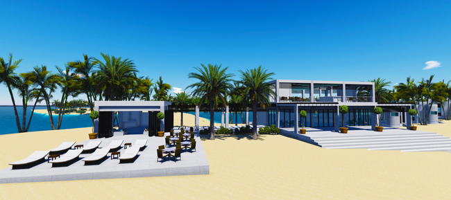 Renderring of the private party room at Norwegian's private island, Great Stirrup Cay. (Photo credit: Norwegian Cruise Line)