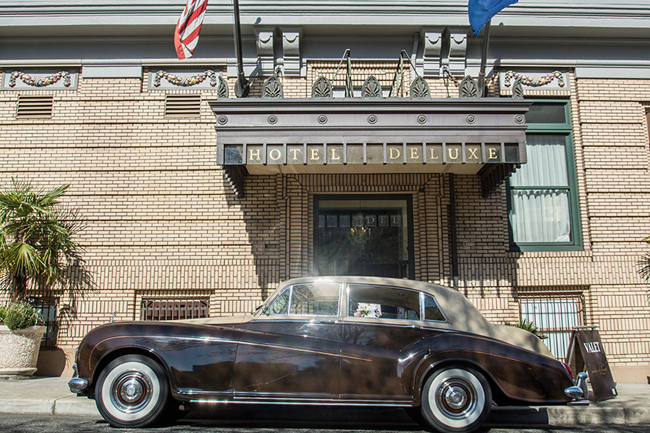 Guests of Portland, Oregon's Hotel deLuxe can rent a vintage Rolls-Royce to explore the city in.