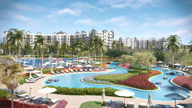 A rendering of The Grove's Surfari Water Park at The Grove Resort & Spa in Orlando.