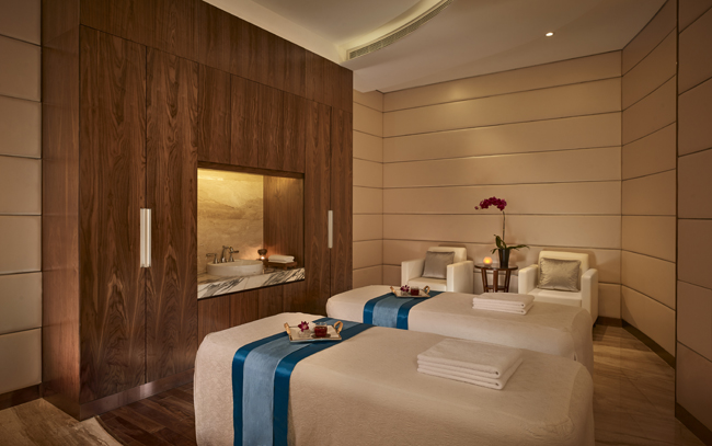 A treatment room at The Reverie Saigon's spa.