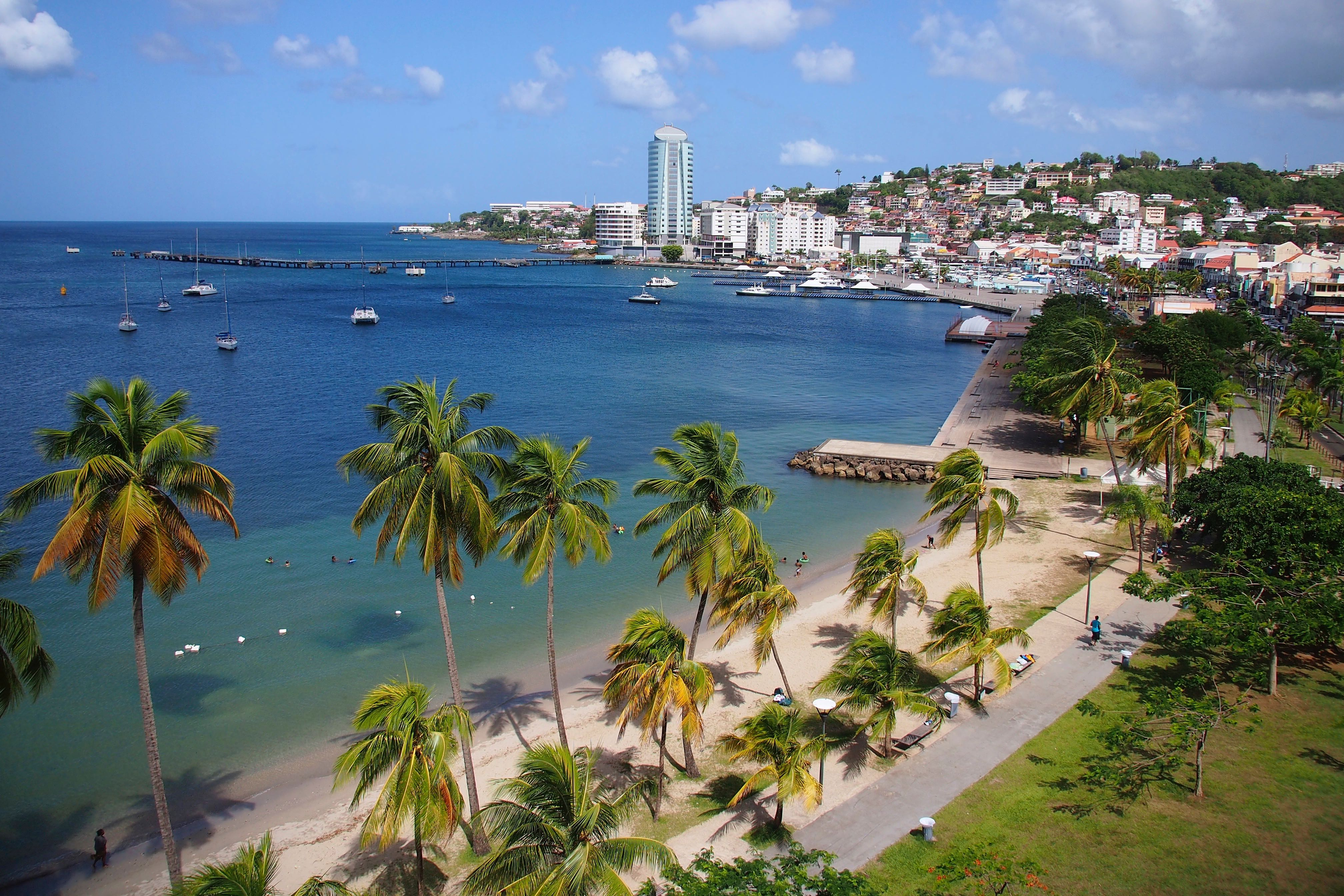 Views of the Fort-de-France waterfront. (Photo Credit: Steve Bennett/UncommonCaribbean.com)