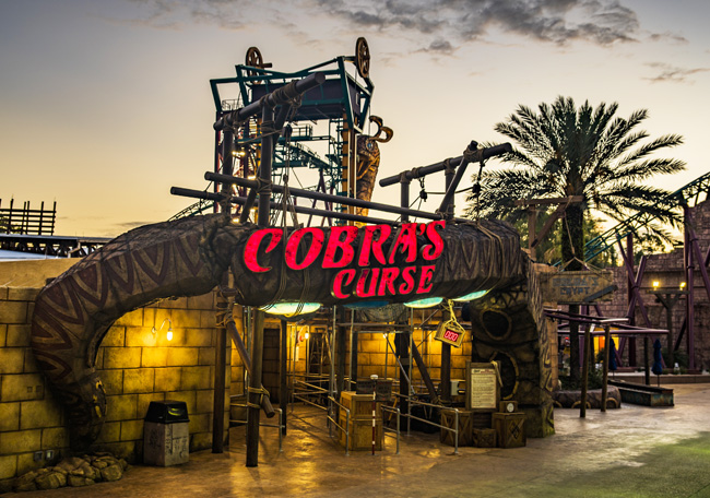 The new Cobra's Curse coaster is set to open.