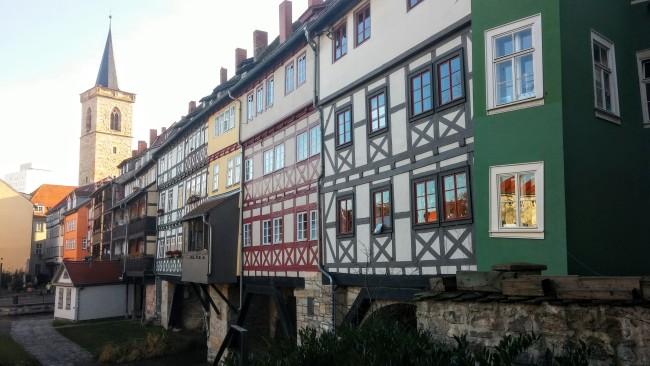 The Merchants' Bridge in Erfurt.