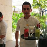 The waiters at The Beloved Hotel have got just the thing to cool down sun-soaked guests!