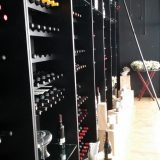 The wine selection at Le Petit Plaisir restaurant is endless, as seen from inside the restaurant's wine cellar.