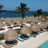 Finest Playa Mujeres' multitude of palapas provided the perfect amount of shade whether poolside or beachside.