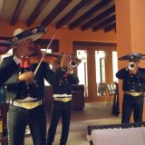 Our private farewell dinner at the Lizo restaurant inside Finest Playa Mujeres concluded with a lively mariachi performance.