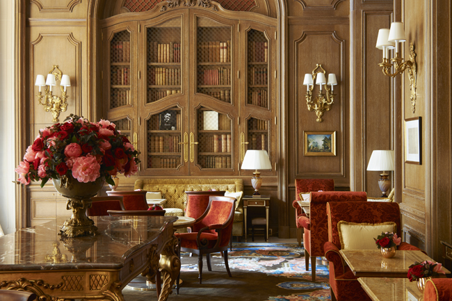 Guests can have afternoon tea at the Salon Proust at the recently reopened Ritz Paris.(Photo credit: Adrien Dirand)