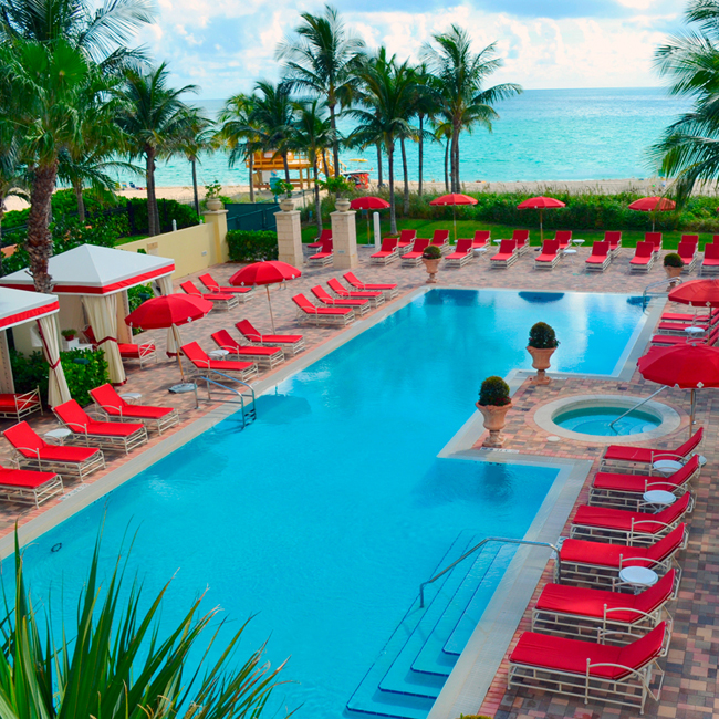 The tranquility pool at the Acqualina Resort & Spa in Sunny Isles Beach.