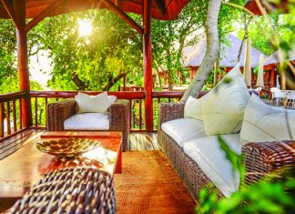 The Outdoor Lounge at Karongwe River Lodge.