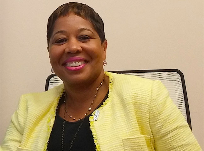 The British Virgin Islands Tourist Board's director of tourism Sharon Flax-Mars.